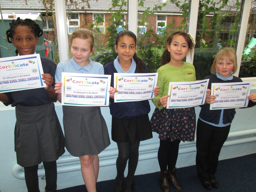 Five proud members of School Council!
