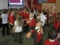 We tried to dance flamenco style. Phew it was hard work.