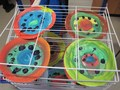 We painted plates and copied some of the designs ofMrs Emery's plates from Spain.