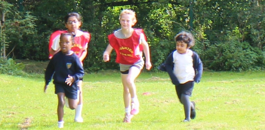 Sports Captains support younger pupils in our Cross Country Races