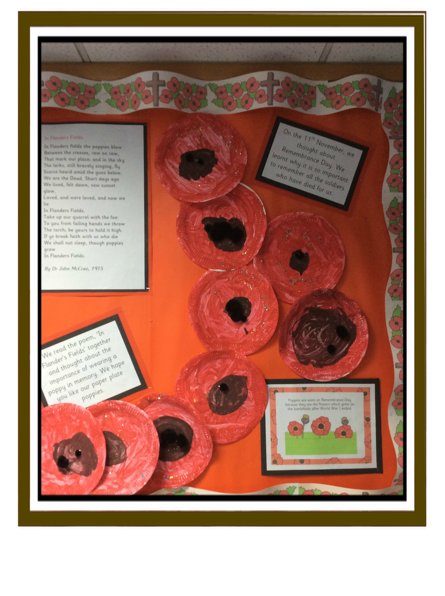 Reception Class found out why the Poppy is important on Remembrance Sunday