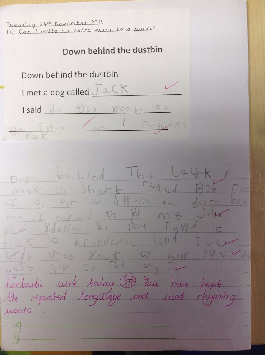 Harvey complete this work independently he kept the repeated phrase and changed some words in each verse