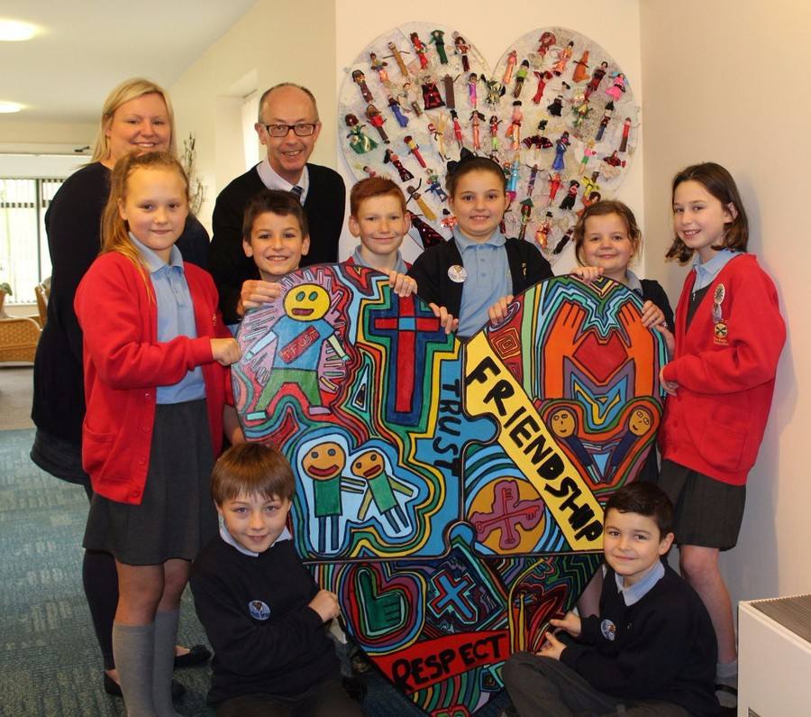 Presenting our new heart to Wigan and Leigh Hospice