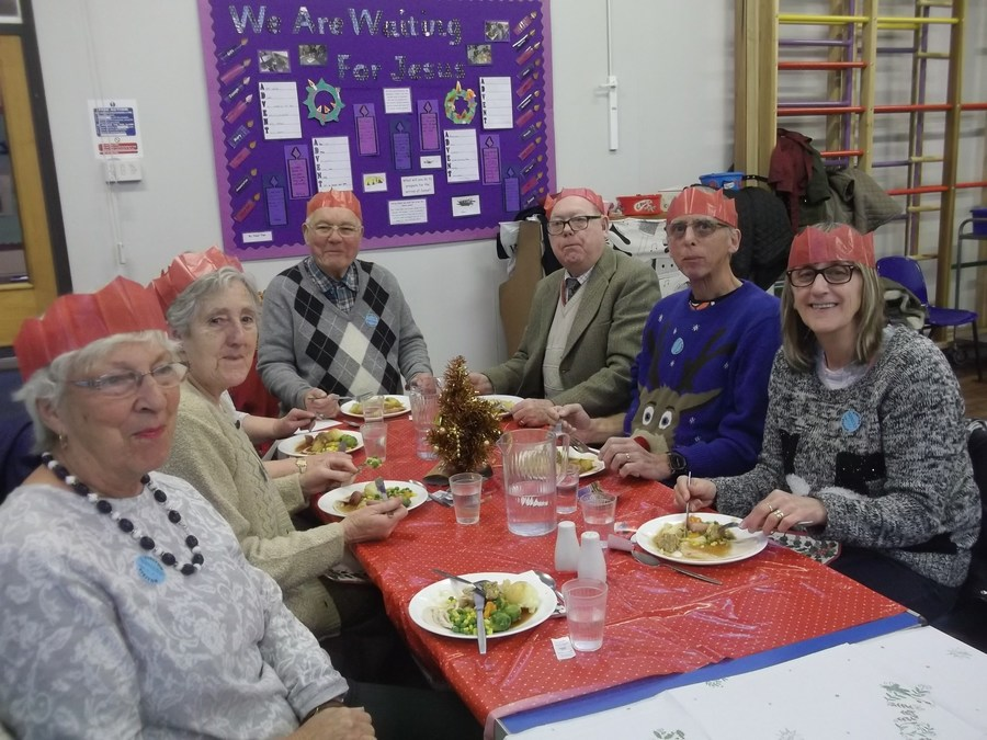 Luncheon Club enjoying Christmas Dinner