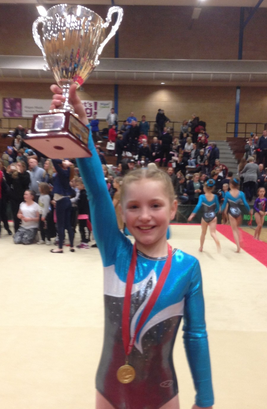 Congratulations to Lois Walker who along with four other girls won gold competing on uneven bars, vault, beam and floor. They will also be representing Greater Manchester in the Inter County North West Gymnastics Championships.