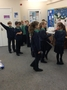 Afterwards, we learnt about how safe our own passwords were. We moved forwards for every positive thing about our passwords and backwards for things we could improve.