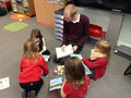 Guided reading with Mr Saunders
