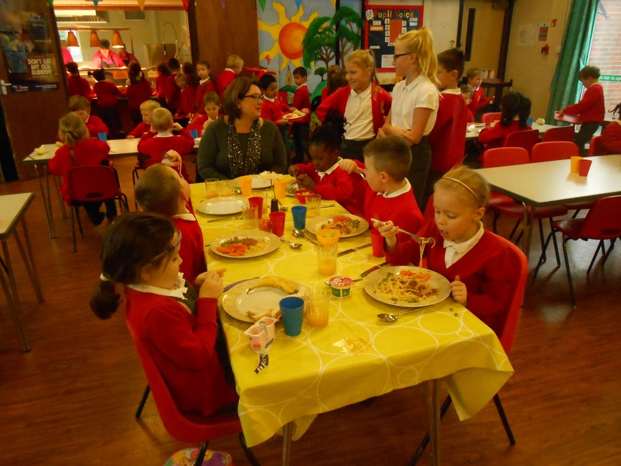 Olivia enjoys being on Top Table with Year One
