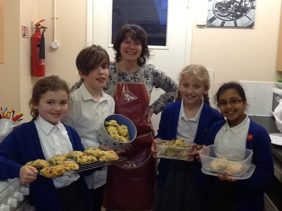 Delicious scones made during Cookery Club