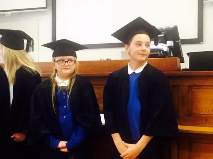 Our Year 6 pupils graduating at Leeds University following their Engineering 'Degree'