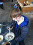The children made rice and black beans