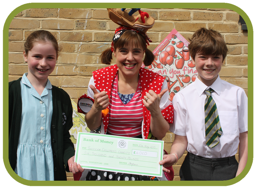 Hattie and Michael presented Dr Yoho with a very special cheque!