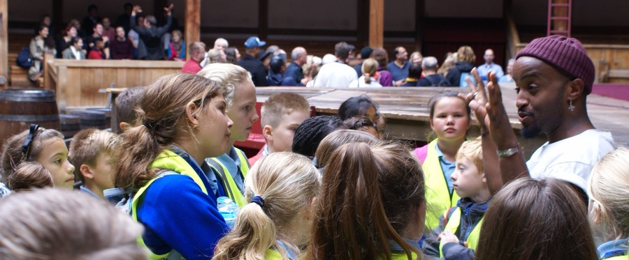 Year 6 enjoy a trip to the Globe theatre as part of their 'The Play's the Thing' Learning journey.