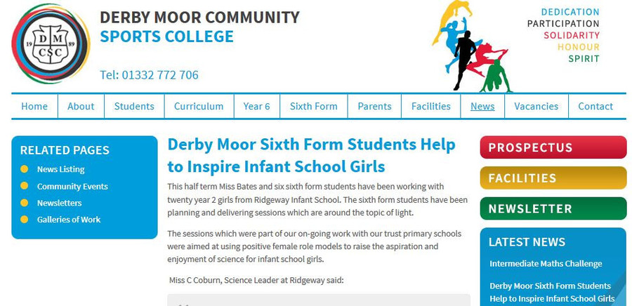 Click here to see what the Derby Moor team has reported about the club...