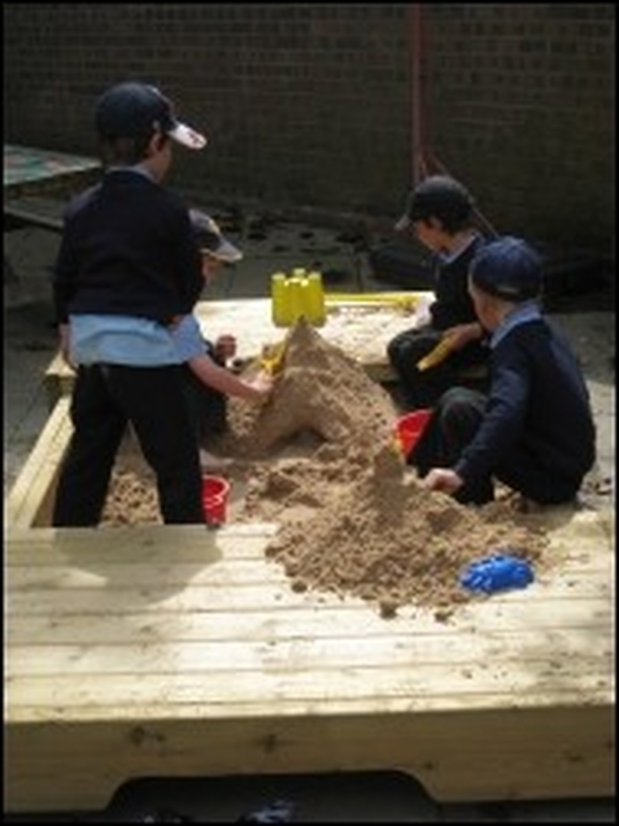 ... this excellent sand pit...