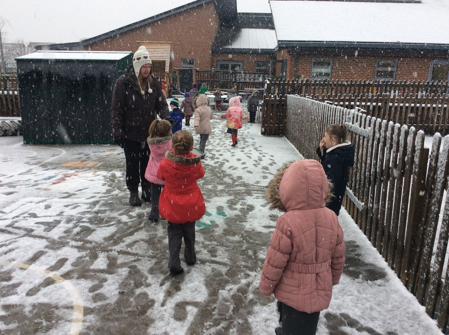 We loved being outside in the snow!