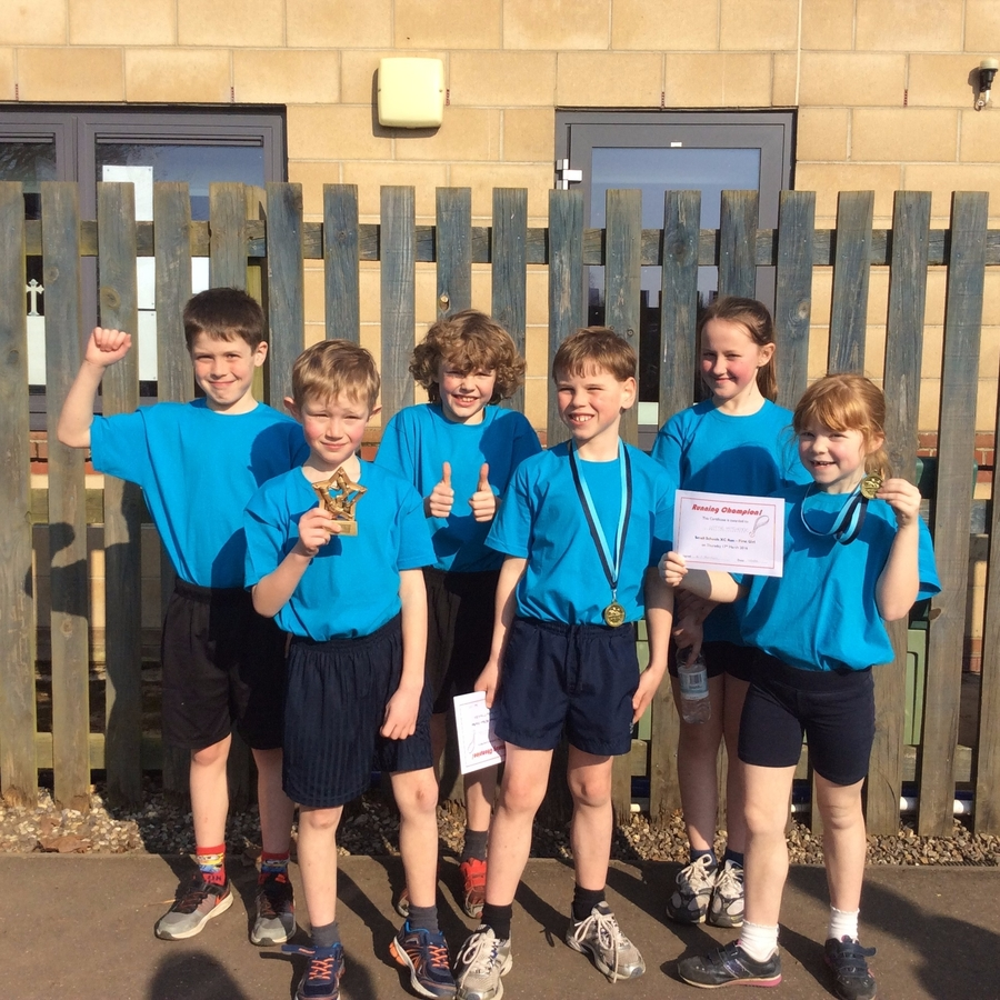 Small Schools XC Run - March 2016 Luke and Lottie won their races and Elmsett won overall!