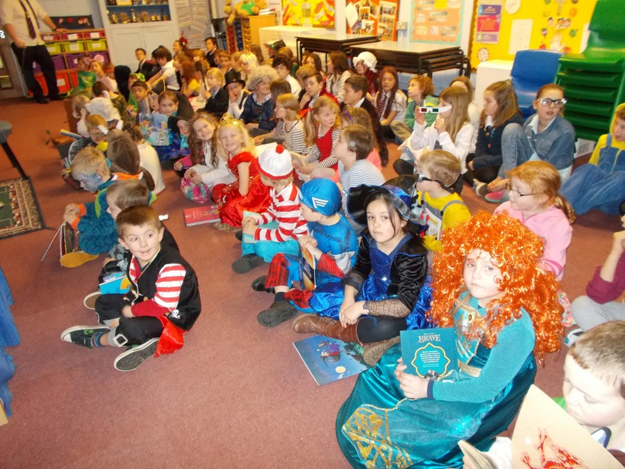 It was also World Book Day - here we are in assembly all dressed up as our favourite characters.