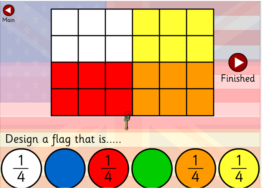 Making flags using fractions