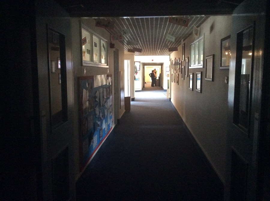 Look how dark the main corridor was during Earth Hour!