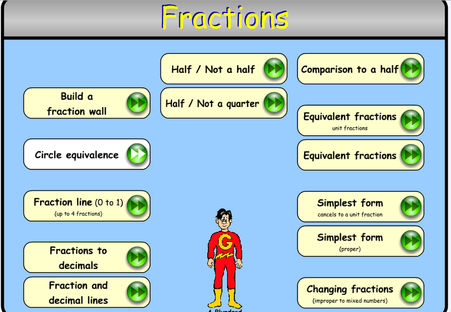 Fractions games
