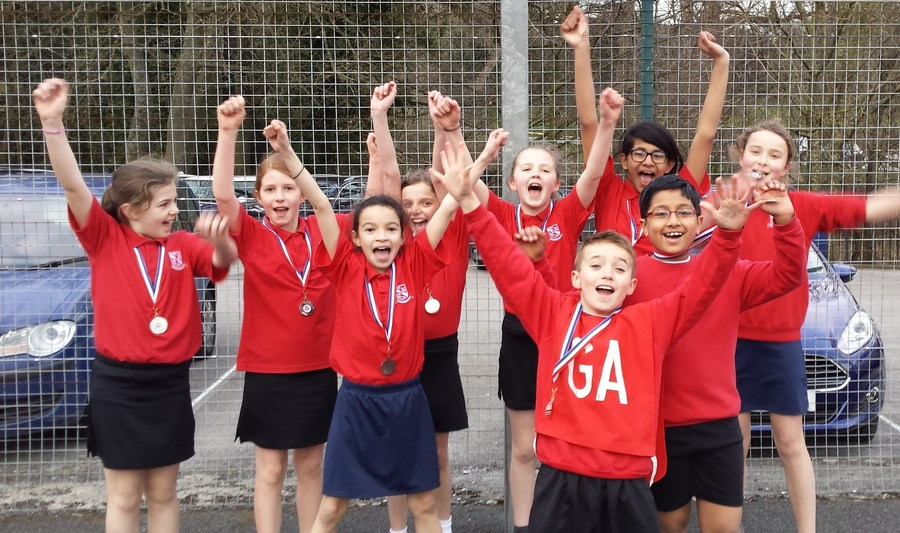 Netball team celebrate Craven Finals
