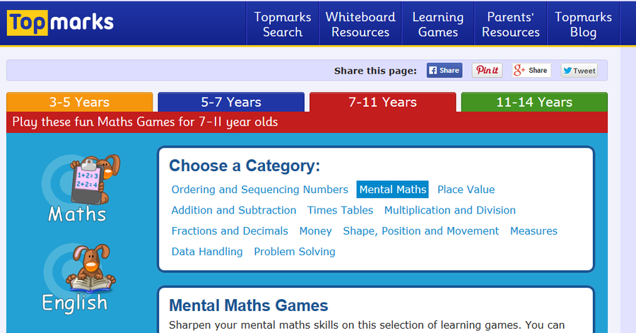 Practive for SATs using the games on this site. Click on the picture above