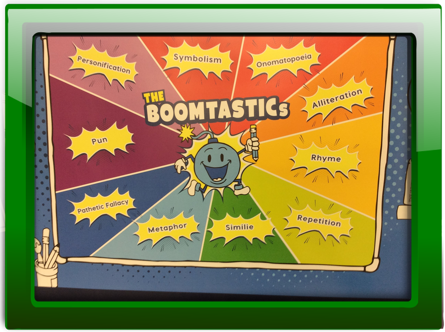 We use Boomtastics to explore text features