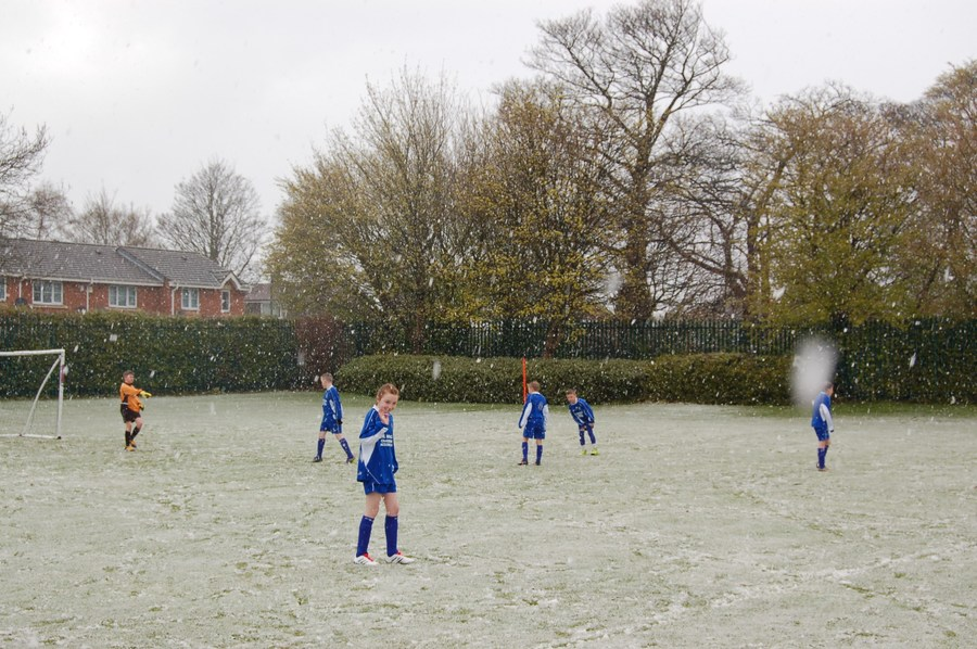 Bishop Cunningham Cup in snowy Westerhope