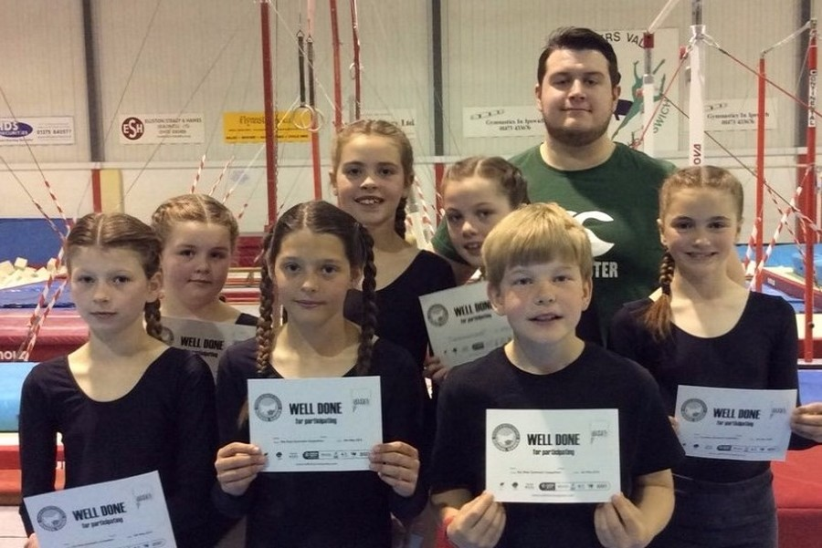 Year 5/6 gymnastics competition at Pipers Vale, May 2016 - 4th place