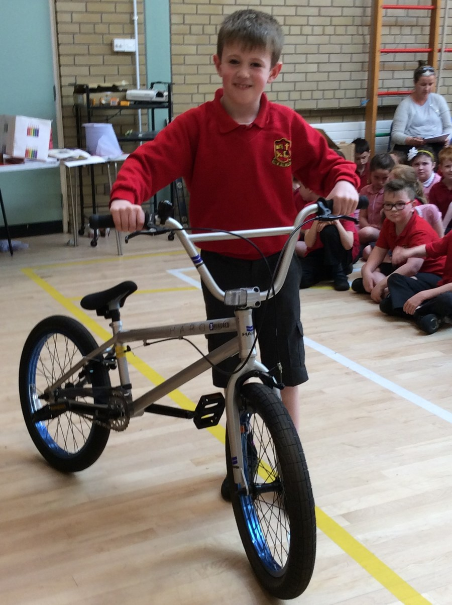 Congratulations to Harry who won this fabulous bike in the Big Pedal raffle!