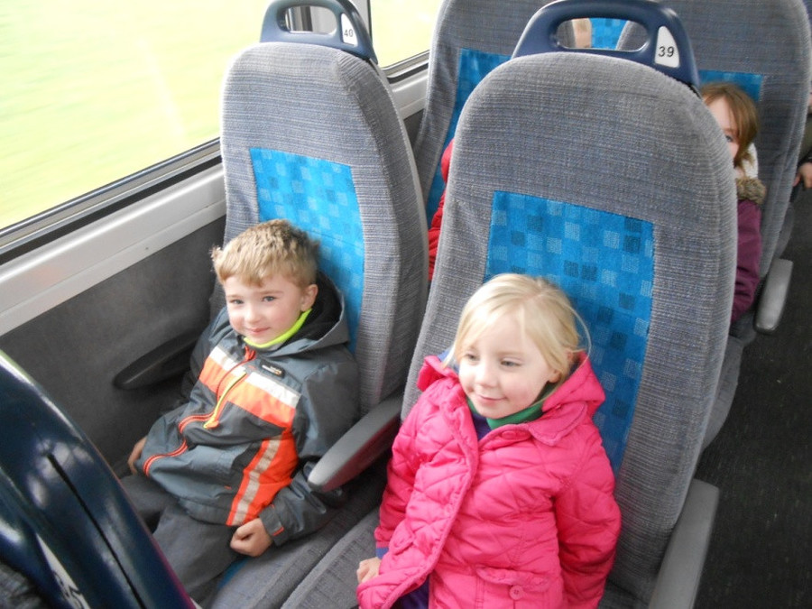 We went on a train ride from Whitchurch to Shrewsbury.