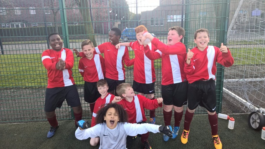 Well done to our Football team who won their league.
