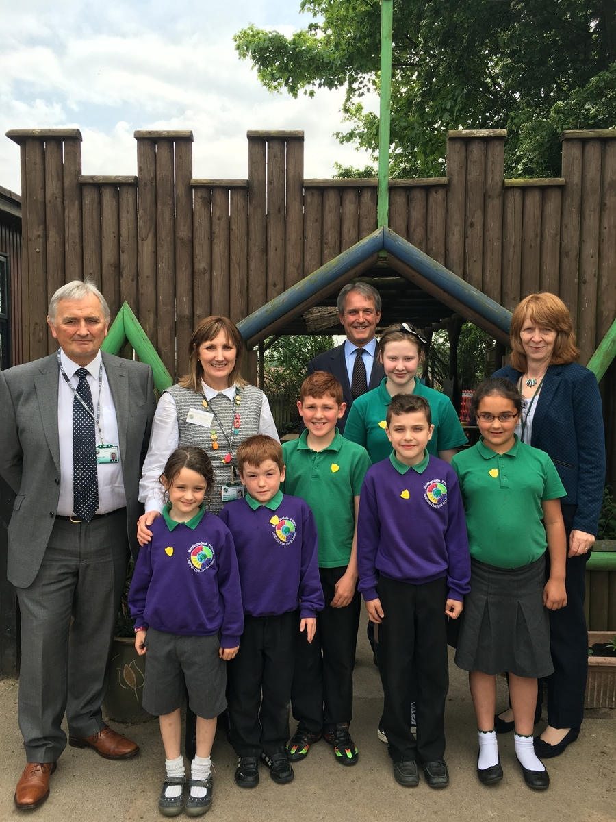 Owen Paterson visited school and met with our school council.