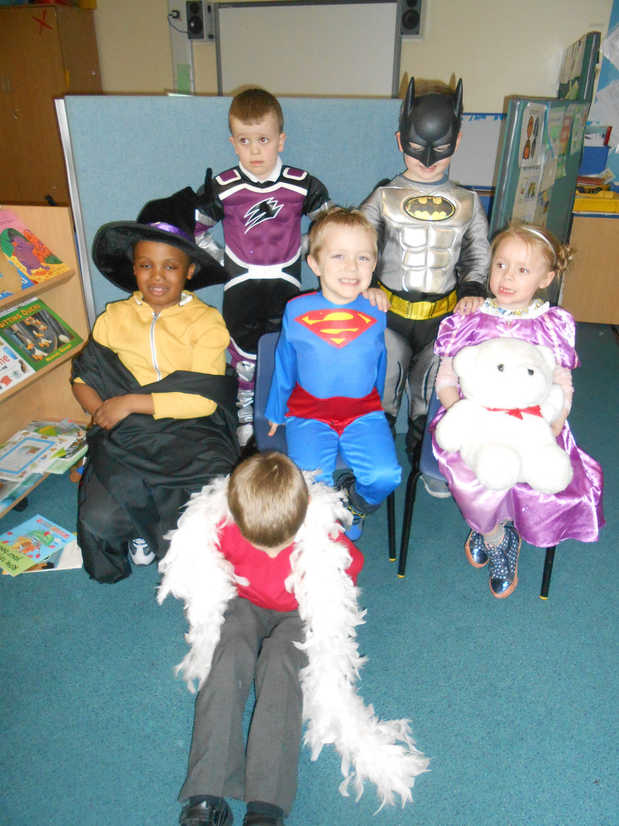 It was fun dressing up as heroes and princesses.
