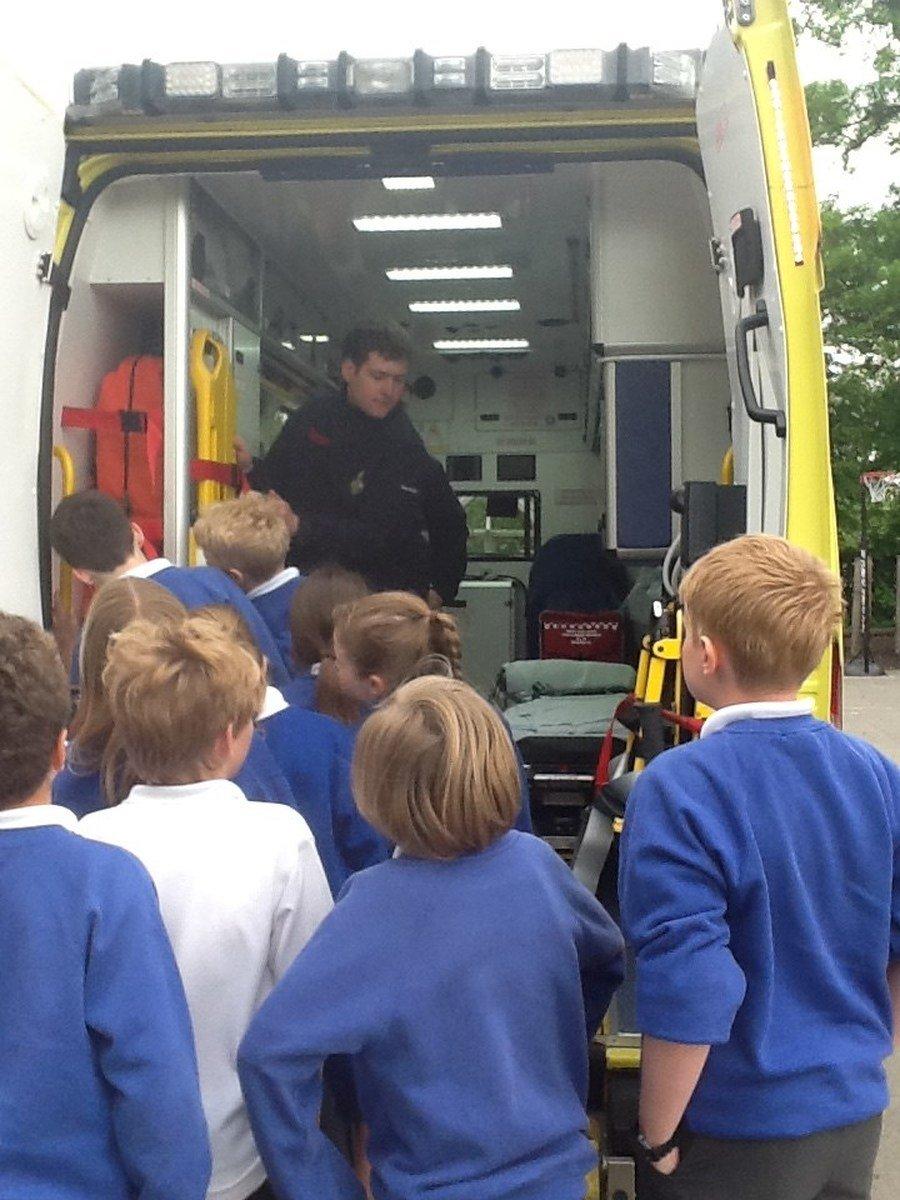 Class 4's Ambulance Visit