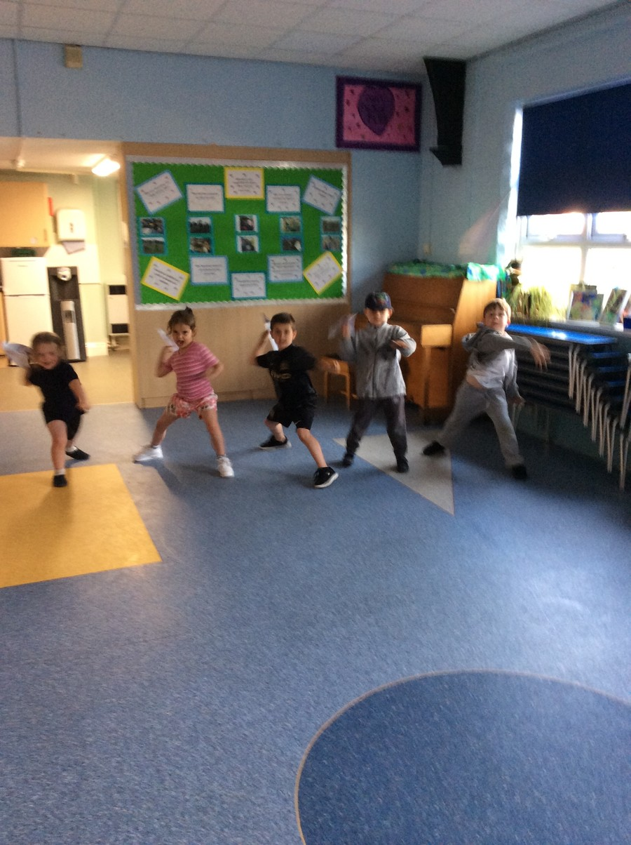 Testing our paper aeroplanes