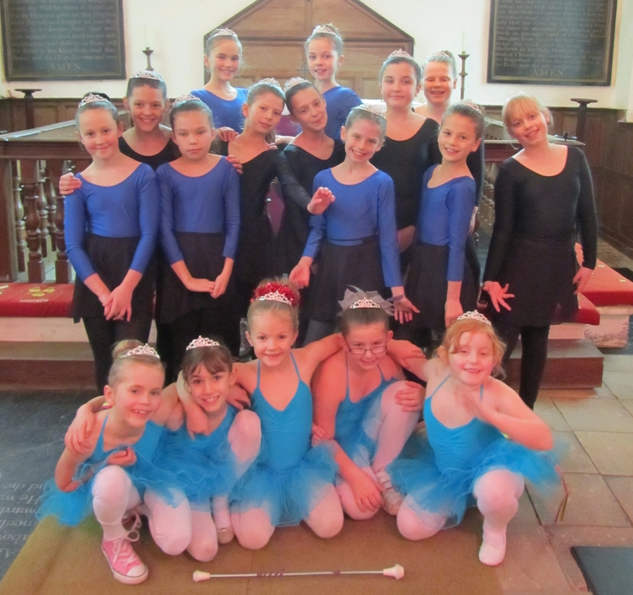 Dance Club Performing at the Christmas Service, December 2015