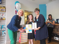 Louise wins local Easter colouring competion