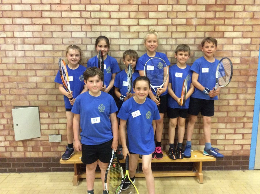 Years 3 and 4 tennis competiton, team one came 1st place!