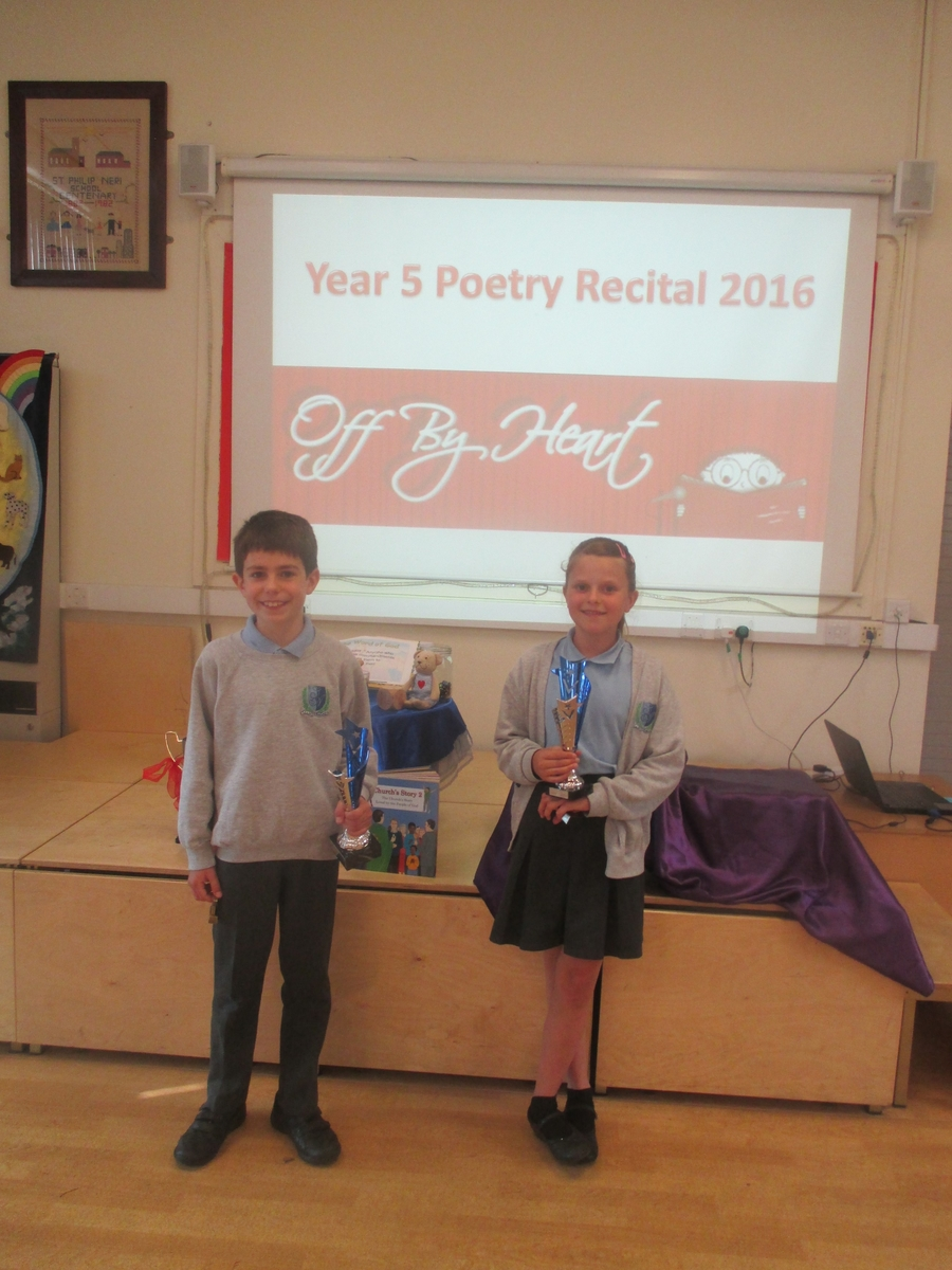 Our victorious performers at the Poetry Competition Finals