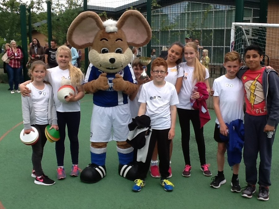 A Sports Day visit from Chester the field mouse