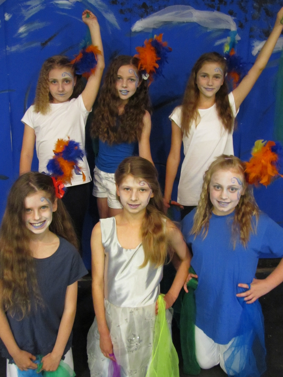 Ariel - Amelia and the Sprites: Lucy, Iona, Lauren, Katie and Melissa