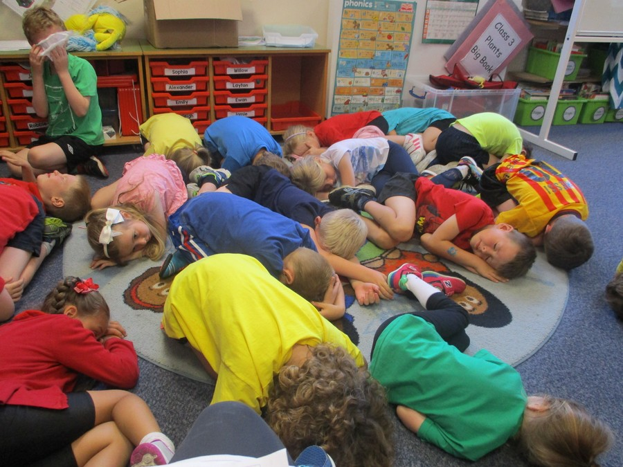Class 3 were tired after sports day!