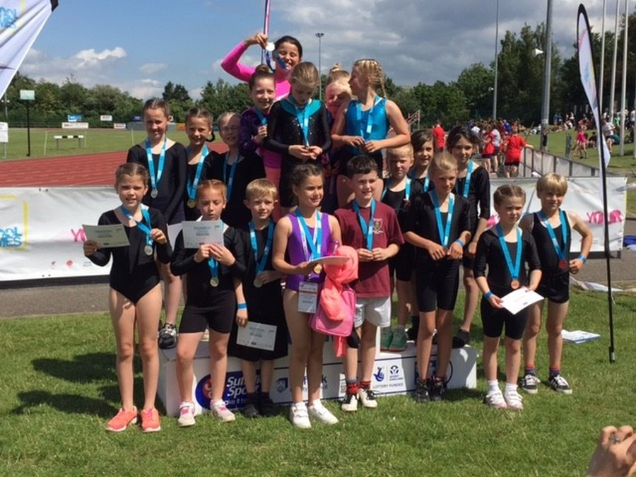 Year 3/4 Gymnasts in 2nd place in Suffolk Gym Finals - July 2016