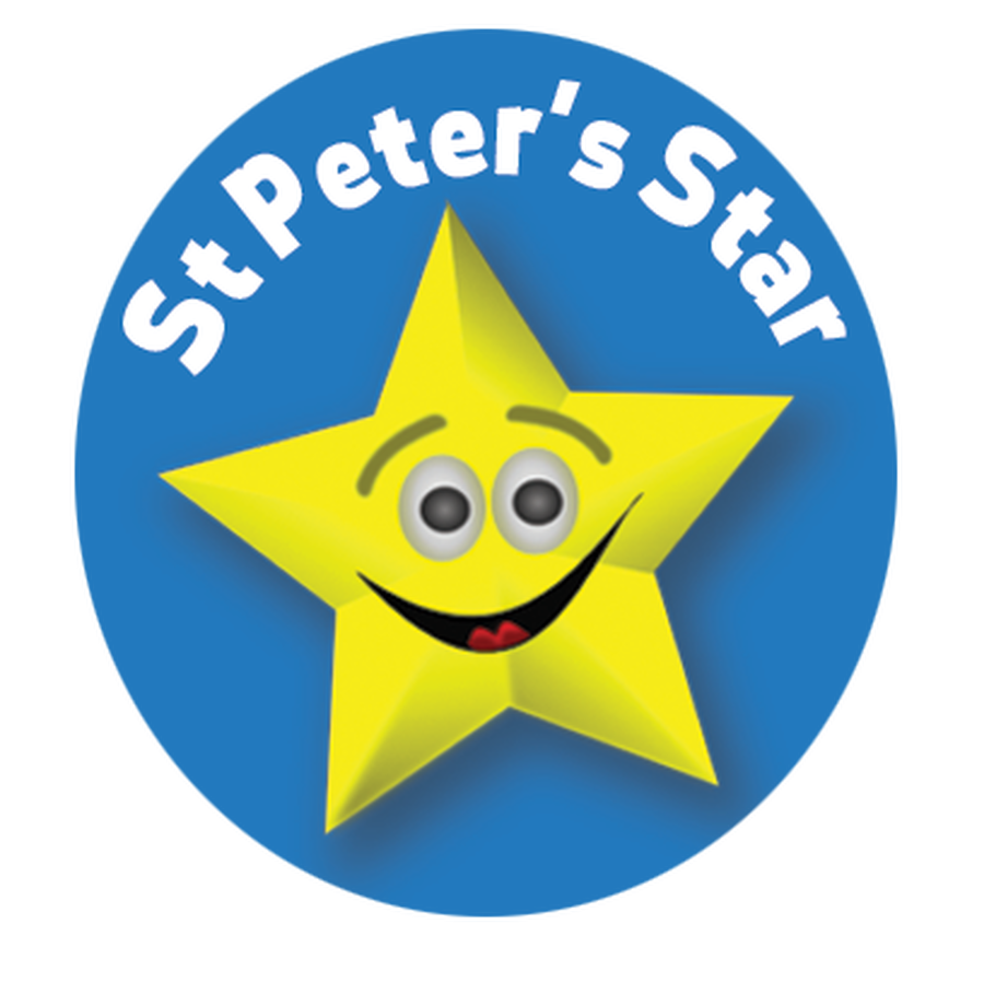 Well Done to our St Peters Stars Last Week: Charlotte, Ted, Imogen, Rosie, Oscar, Jack and Voilet