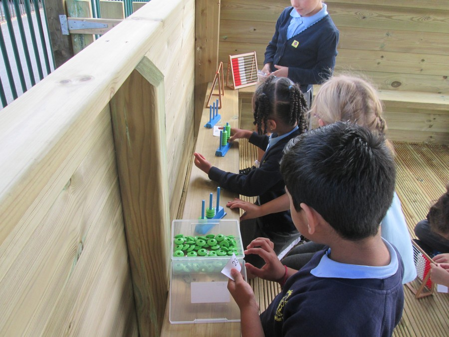 Year 2 are very much enjoying our new outdoor classroom and learning area.
