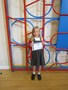 Ella received a certificate for her horse riding skills