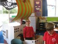 Role-play in our pirate ship