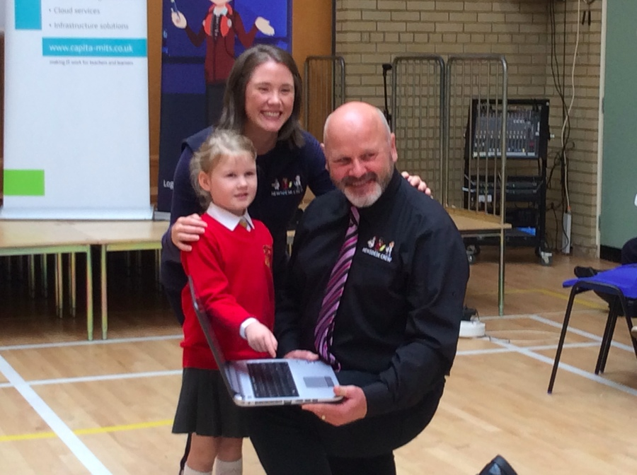 Emily had the honour of pressing the button to launch Junior Newsdesk.